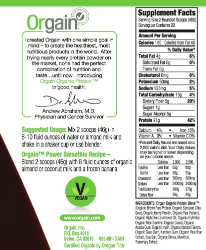 orgain whey protein powder reviews