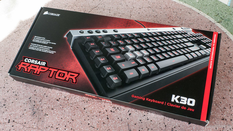 corsair raptor k30 gaming keyboard review