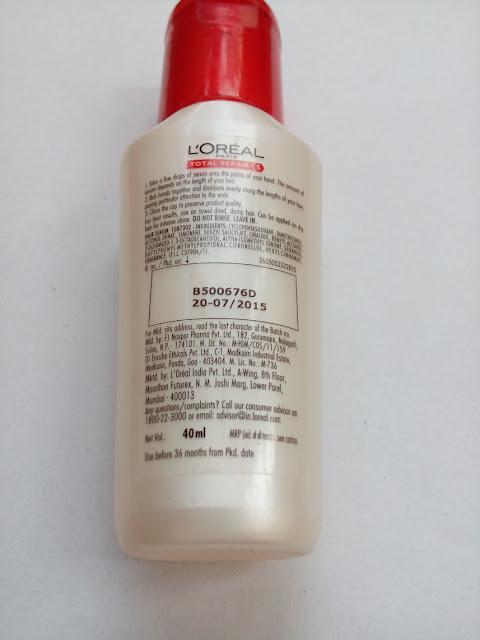 l oreal total repair 5 hair serum review
