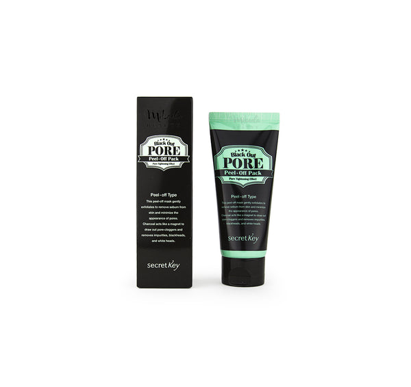 secret key black out pore peel off pack review