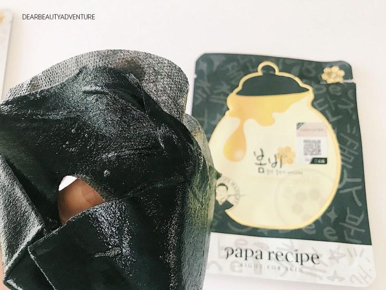 papa recipe bombee black honey mask review