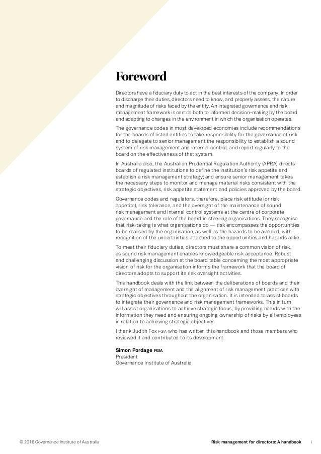 governance institute of australia review