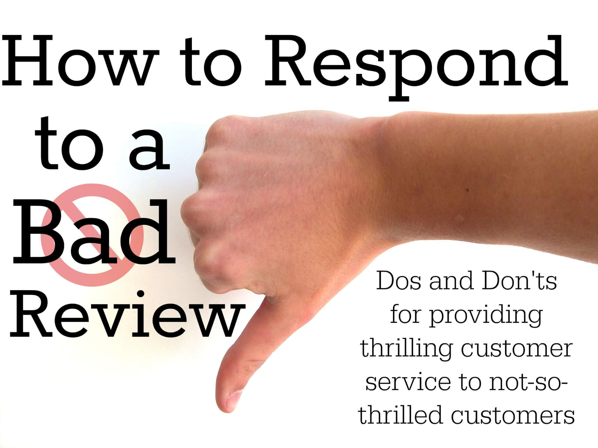 how to respond to a bad restaurant review