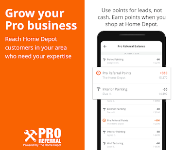 pro referral home depot reviews