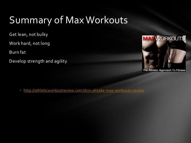 shin ohtake max workouts review
