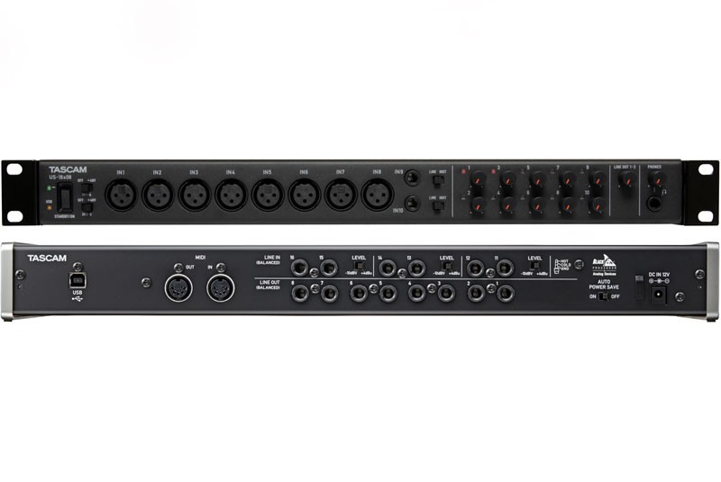tascam us 16x08 audio interface review